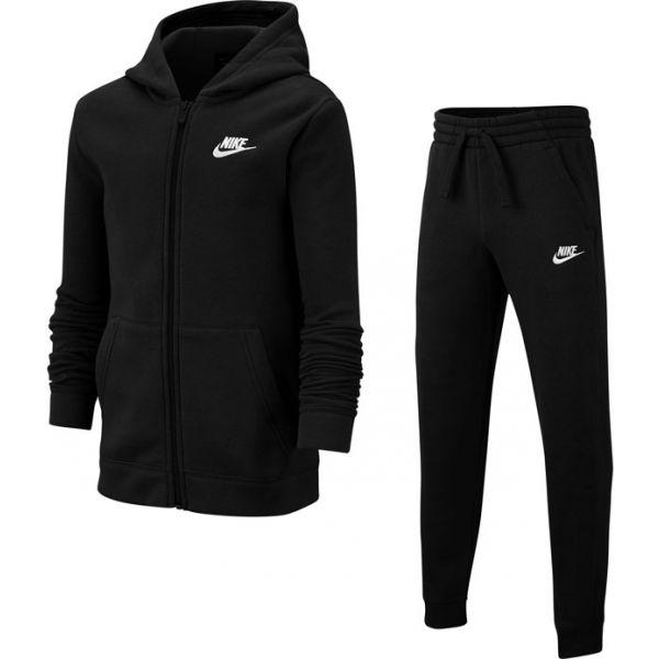 Nike NSW TRK SUIT CORE BF B čierna XS - Chlapčenská  tepláková súprava