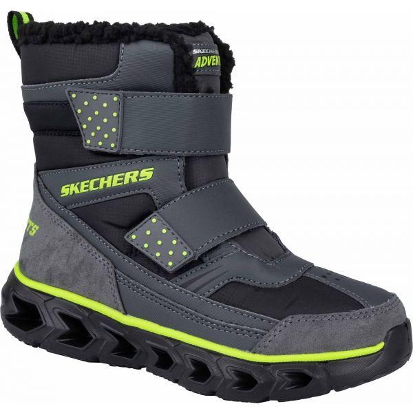 Skechers HYPNO FLASH 2.0 - Chlapčenská zimná obuv