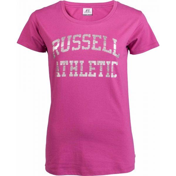 Russell Athletic S/S CREW NECK TEE SHIRT rózsaszín XL - Női póló