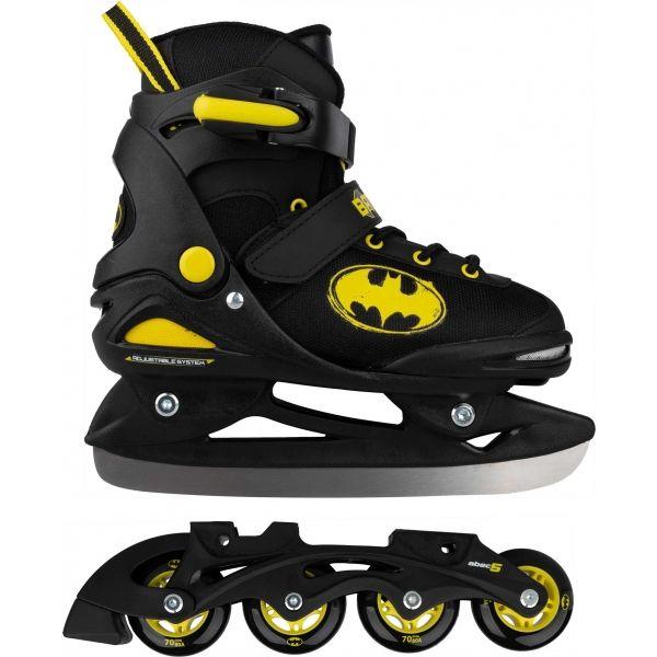 Warner Bros BATMAN 2v1 - Chlapčenské in-line a ľadové korčule v jednom