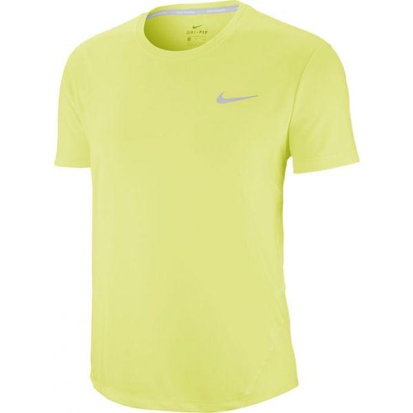 Nike MILER TOP SS W zelená S - Dámské běžecké tričko