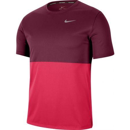 Pánské běžecké tričko - Nike BREATHE RUN TOP SS M - 1
