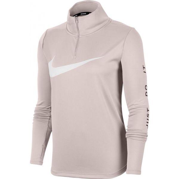Nike MIDLAYER QZ SWSH RUN W růžová XS - Dámský běžecký top