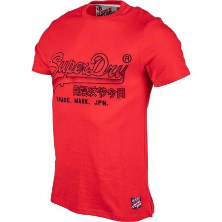 Pánské tričko - Superdry DOWNHILL RACER APPLIQUE TEE - 2