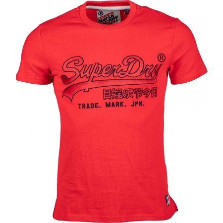Pánské tričko - Superdry DOWNHILL RACER APPLIQUE TEE - 1