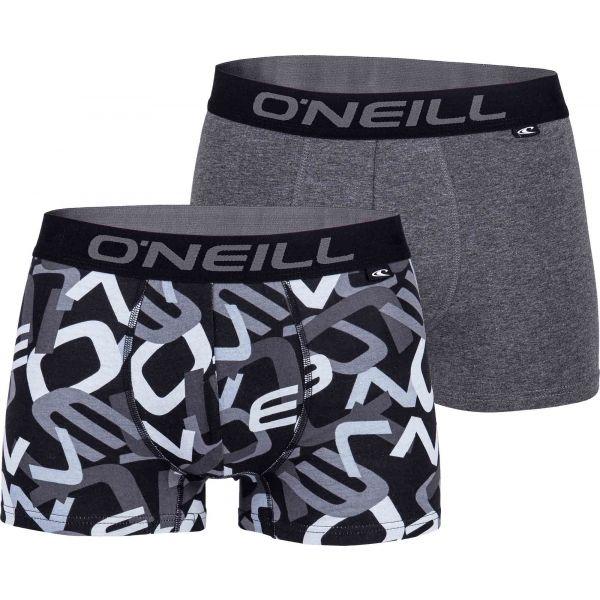 O'Neill MEN BOXER ALL OVER LETTERS 2PK bílá S - Pánské boxerky