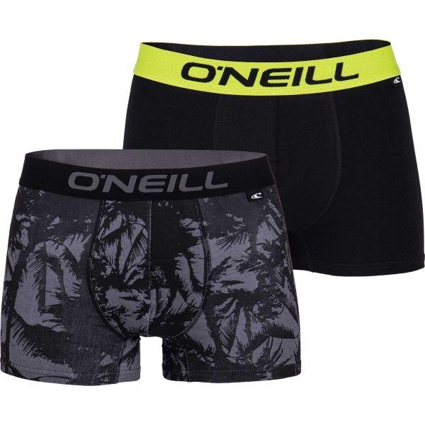 O'Neill MEN BOXER PALM TREES 2PK fekete XL - Férfi boxeralsó