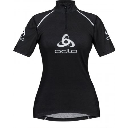 Odlo STAND-UP COLLAR S/S 1/2 ZIP ORIGINALS LIGHT LOGOLINE - Women's functional T-shirt