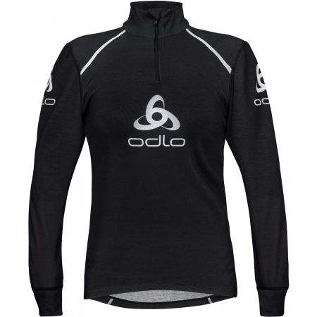 Odlo STAND-UP COLLAR L/S 1/2 ZIP ORIGINALS LIGHT LOGOLINE - Tricou funcțional bărbați