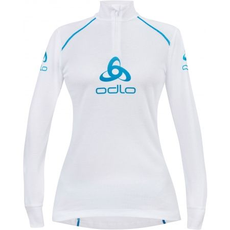 Odlo STAND-UP COLLAR L/S 1/2 ZIP ORIGINALS LIGHT LOGOLINE - Дамска функционална  тениска
