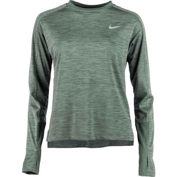 Nike PACER TOP CREW W fialová M - Dámské běžecké tričko