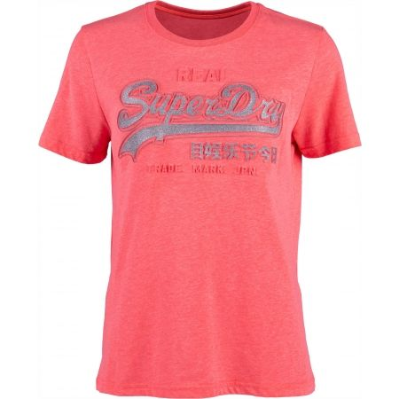Superdry PINK LOGO - Dámske tričko