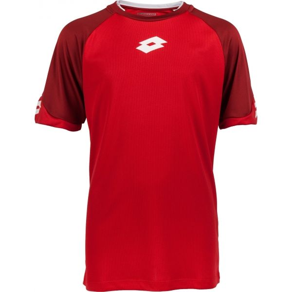 Lotto JERSEY DELTA PLUS JR czerwony XL - Koszulka piłkarska chłopięca