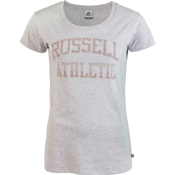 Russell Athletic S/S CREWNECK TEE SHIRT šedá XS - Dámské triko