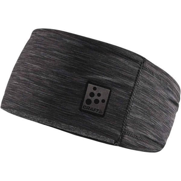 Craft MICROFLEECE černá UNI - Funkční čelenka