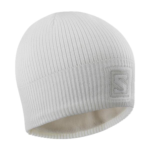 Salomon LOGO BEANIE bílá UNI - Zimní čepice
