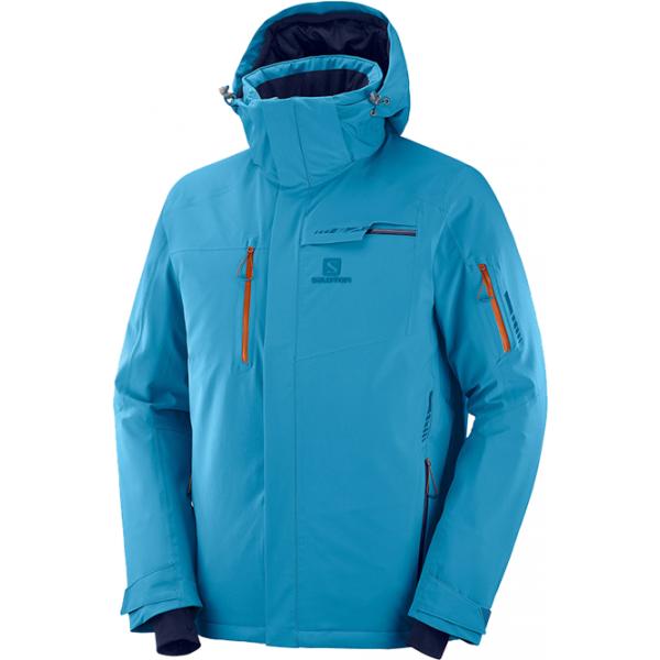 Salomon BRILLIANT JKT M modrá M - Pánská lyžařská bunda