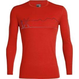 Icebreaker OASIS LS CREWE SINGLE LINE SKI - Functional merino T-shirt