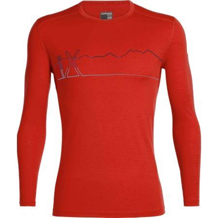 Icebreaker OASIS LS CREWE SINGLE LINE SKI - Funkčné tričko z vlny Merino