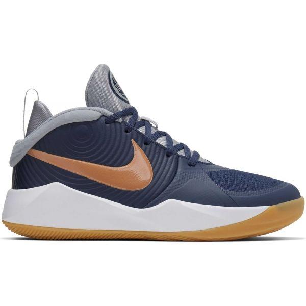 Nike TEAM HUSTLE D9 niebieski 5Y - Obuwie koszykarskie dziecięce
