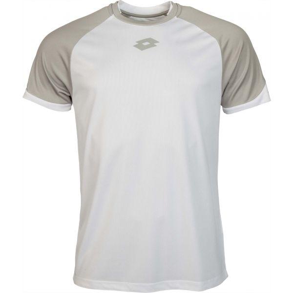 Lotto JERSEY DELTA PLUS JR biały XS - Koszulka piłkarska chłopięca