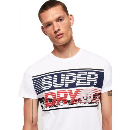 Pánske tričko - Superdry DOWNHILL PHOTOGRAPHIC TEE - 4