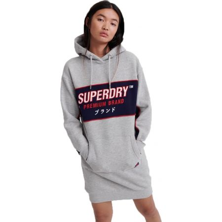 Superdry GRAPHIC PANEL SWEAT DRESS - Dámské šaty