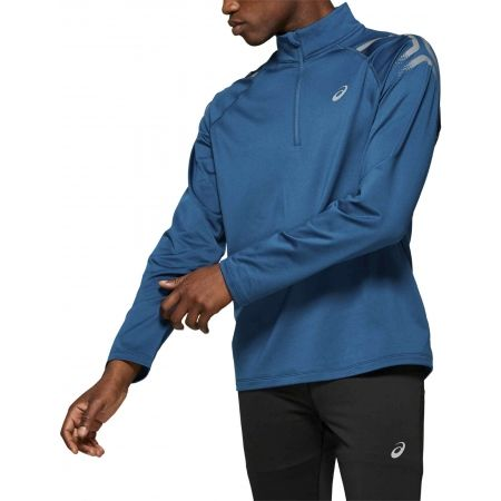 Tricou alergare bărbați - Asics ICON WINTER LS 1/2 ZIP TOP - 3