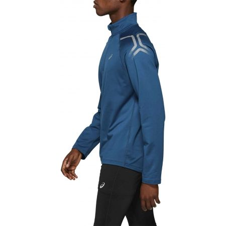Tricou alergare bărbați - Asics ICON WINTER LS 1/2 ZIP TOP - 4