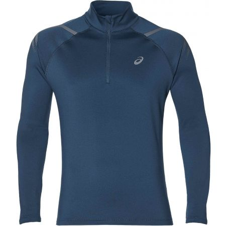 Tricou alergare bărbați - Asics ICON WINTER LS 1/2 ZIP TOP - 1