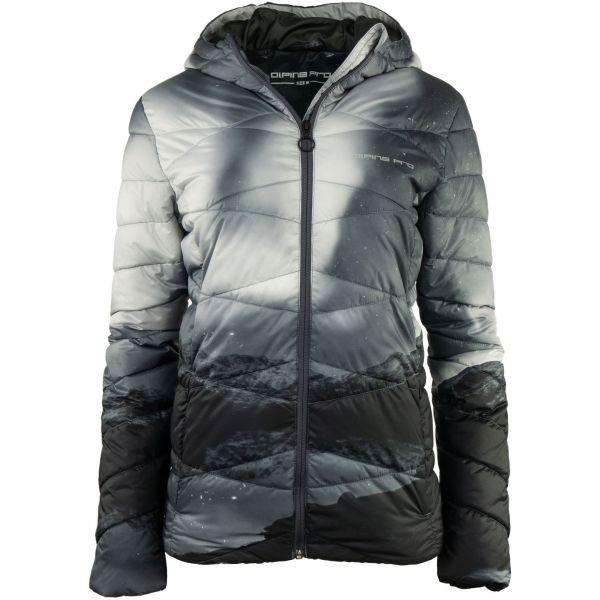 ALPINE PRO WIVIANA šedá M - Dámská zimní bunda