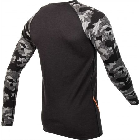 Pánské triko s dlouhým rukávem - Bula CAMO MERINO WOOL CREW - 3
