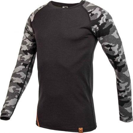 Pánské triko s dlouhým rukávem - Bula CAMO MERINO WOOL CREW - 2