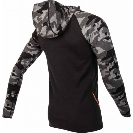 Men's sweatshirt - Bula CAMO MERINO WOOL HZ HOOD - 3