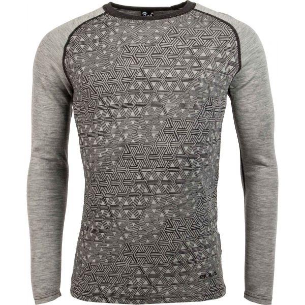Bula GEO MERINO WOOL CREW - Pánske tričko s dlhým rukávom