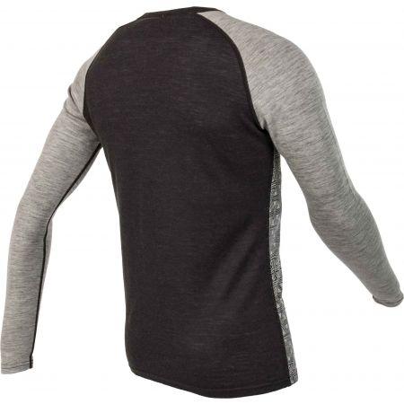 Pánske tričko s dlhým rukávom - Bula GEO MERINO WOOL CREW - 3