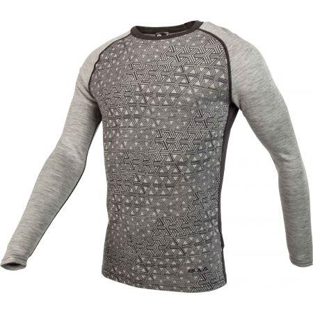 Pánske tričko s dlhým rukávom - Bula GEO MERINO WOOL CREW - 2