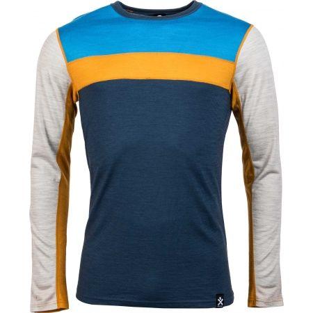 Pánské triko s dlouhým rukávem - Bula RETRO WOOL CREW - 1
