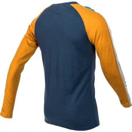 Pánské triko s dlouhým rukávem - Bula RETRO WOOL CREW - 3