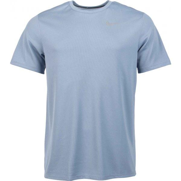 Nike DF BRTHE RUN TOP SS M šedá S - Pánské běžecké tričko
