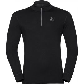 Odlo BL TOP TURTLE NECK L/S HALF ZIP NATURAL