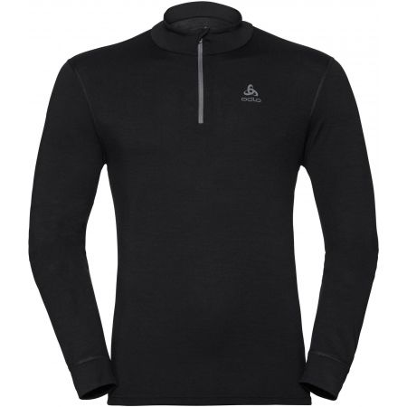 Odlo BL TOP TURTLE NECK L/S HALF ZIP NATURAL - Men's long sleeve T-shirt
