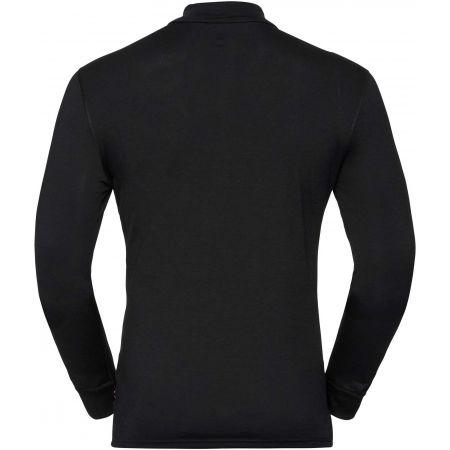 Men's long sleeve T-shirt - Odlo BL TOP TURTLE NECK L/S HALF ZIP NATURAL - 2