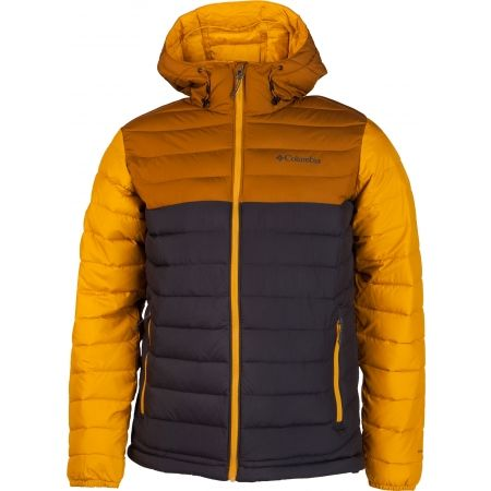 Pánska bunda - Columbia POWDER LITE HOODED JACKET - 1