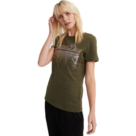 Superdry VINTAGE LOGO METALLIC CASCADE ENTRY TEE - Дамска тениска