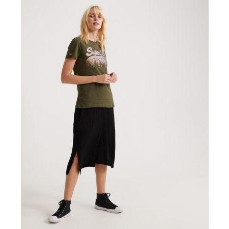 Dámské tričko - Superdry VINTAGE LOGO METALLIC CASCADE ENTRY TEE - 3