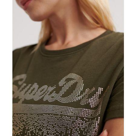 Dámské tričko - Superdry VINTAGE LOGO METALLIC CASCADE ENTRY TEE - 4