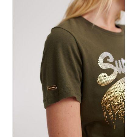 Dámské tričko - Superdry VINTAGE LOGO METALLIC CASCADE ENTRY TEE - 5
