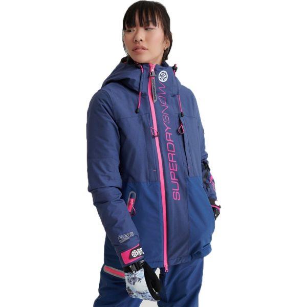 Superdry SLALOM SLICE SKI JACKET albastru închis 10 - Geacă ski damă