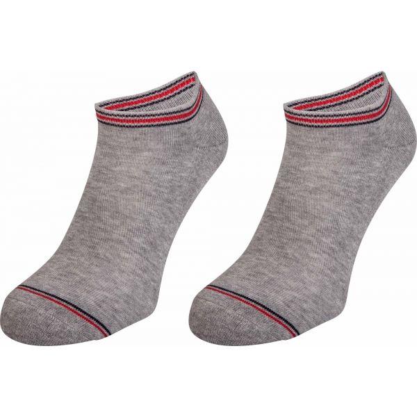 Tommy Hilfiger MEN ICONIC SPORTS SNEAKER 2P šedá 43 - 46 - Pánské ponožky